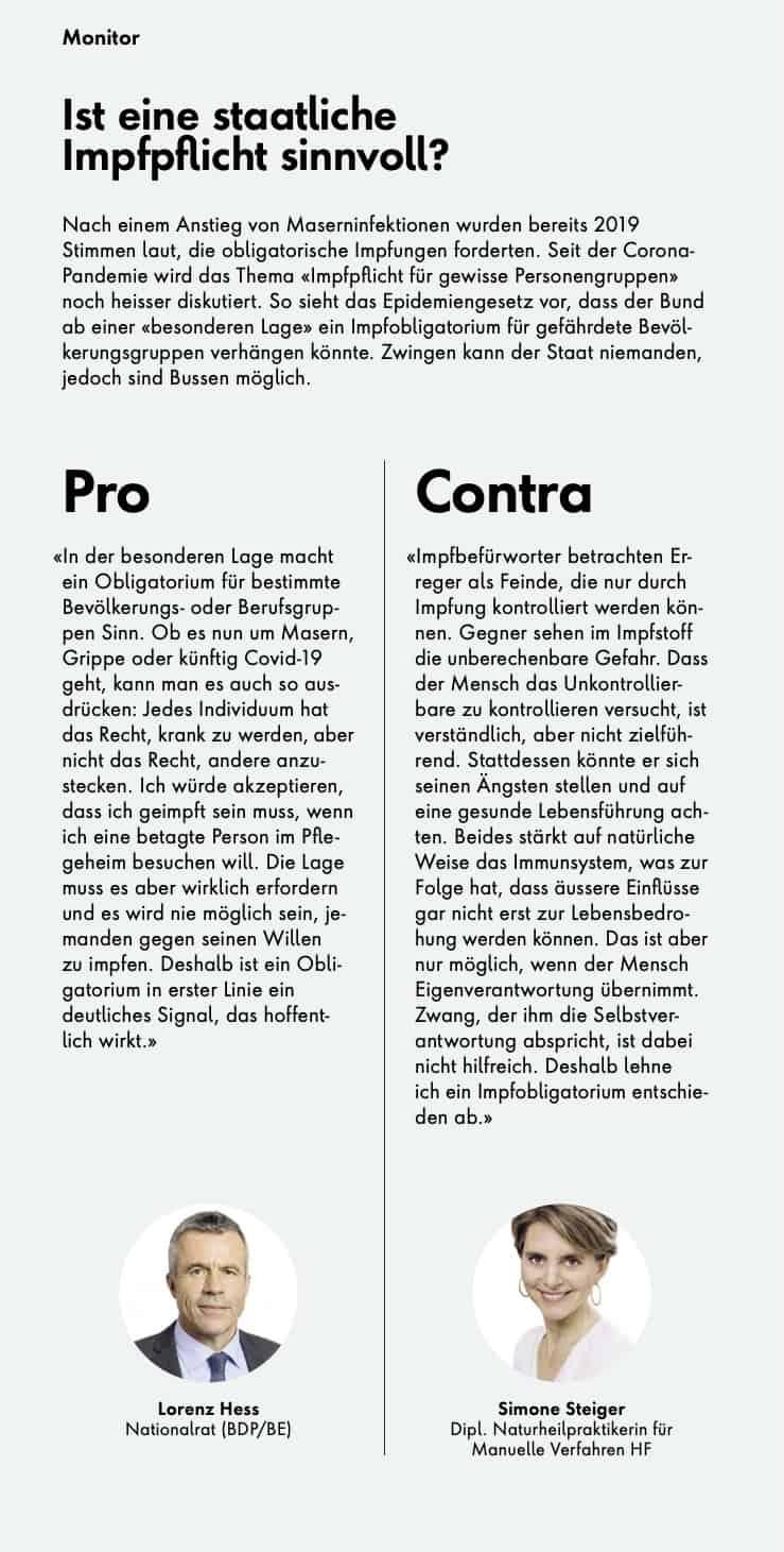 Aus dem SWICA-Kundenmagazin März 2021